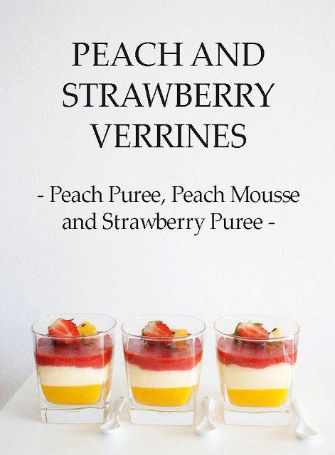 Peach Mousse & Strawberry Verrines Recipe — Dishmaps