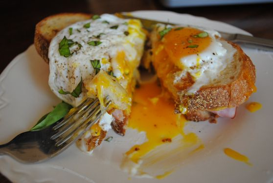 croque madame, cut - - Suggested by Trump Soho Chef
