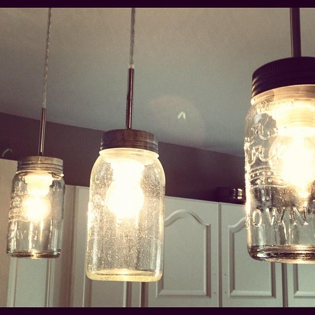 Diy mason jar light fixture diy pinterest - Diy light fixtures ...