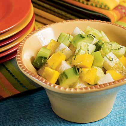 Mango, Jicama & Cucumber Salad | Soups + Salads | Pinterest