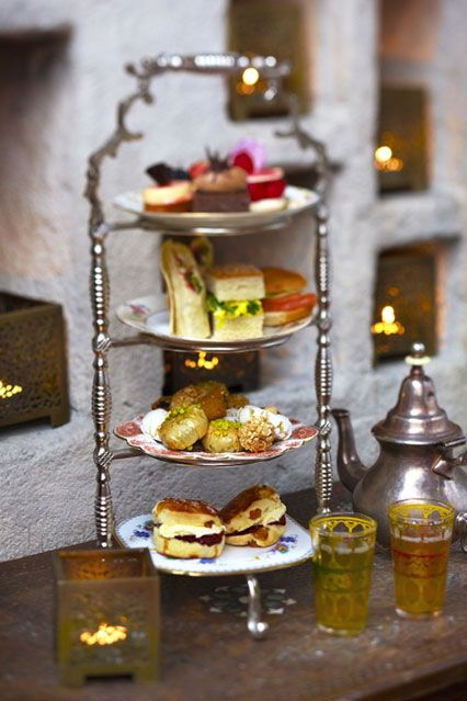 Moroccan-inspired afternoon tea