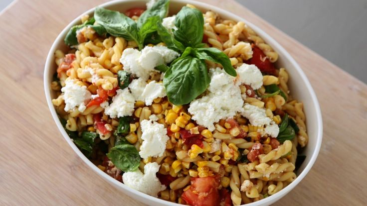 Grilled Tomato and Corn Pasta Salad | Food | Pinterest