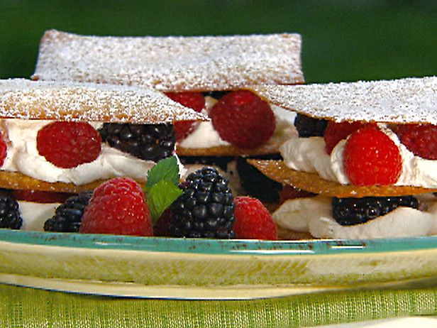 Berry Napoleons with Sugared Wonton Wrappers - Book Club