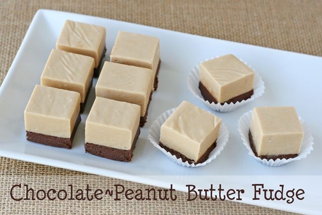 Chocolate Peanut Butter Fudge Recipe | Cooking | Pinterest