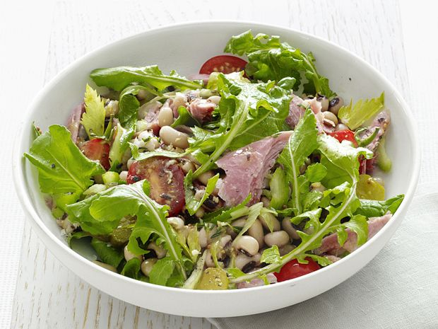 Turkey And Black-Eyed Pea Salad from FoodNetwork.com. For Friday ...
