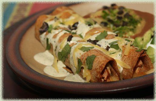 Cheese Flautas With Cilantro Pesto Recipe — Dishmaps