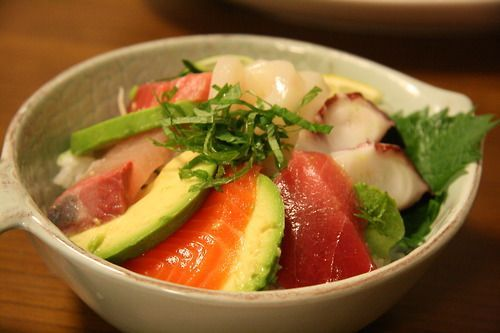 Sashimi with avocado | Recipes for Someday | Pinterest
