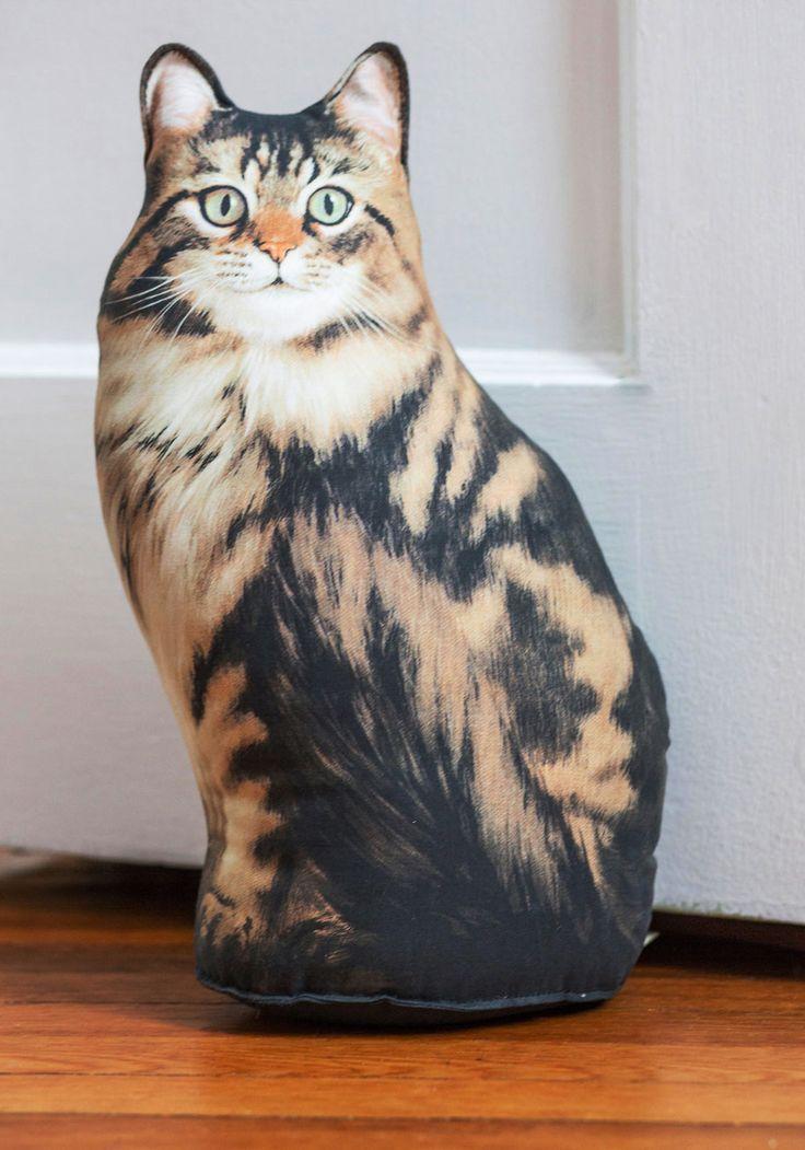 Door stop meow pinterest - Cat door stoppers ...