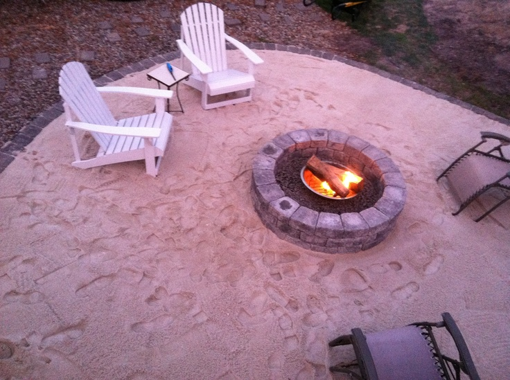 Backyard beach DIY fire pit id like to do this whole set up