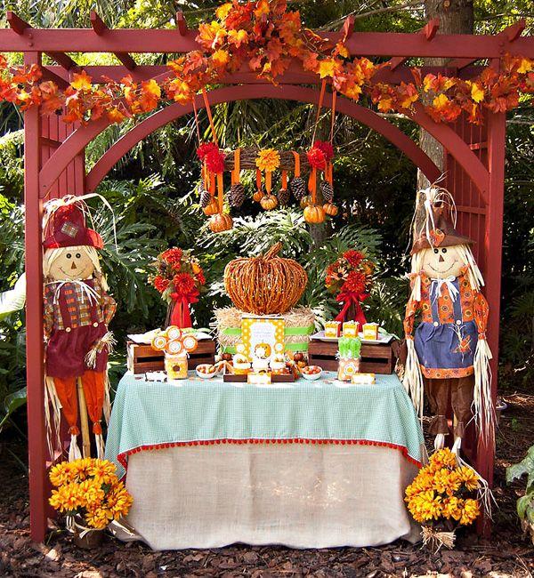 Cute setup for fall festival.