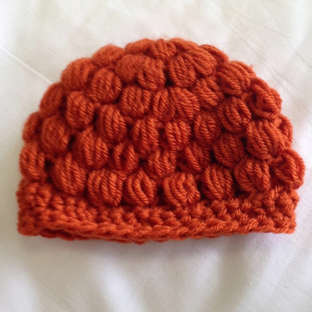 Crochet Puff Stitch Hat Crochet Pinterest