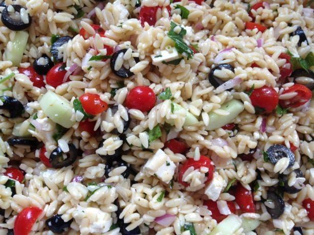 Perfect Greek Orzo Salad. Photo by Christine's Yellow Kitchen