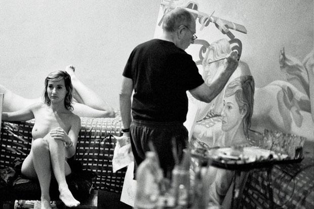 Philip Pearlstein | Artistas en su estudio / artist ... Philip Pearlstein Drawing