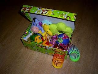 shoe box to toy box
