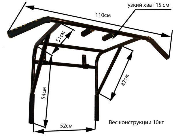 Турник настенный чертежи размеры