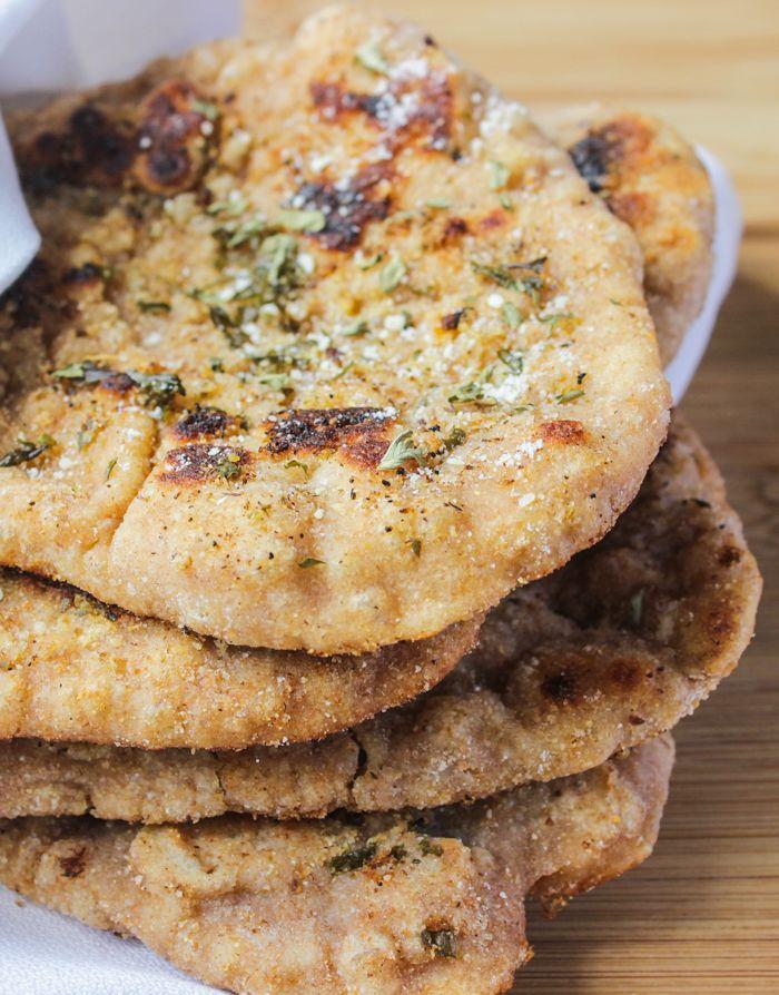 Whole Wheat Homemade Naan Bread | Recipe
