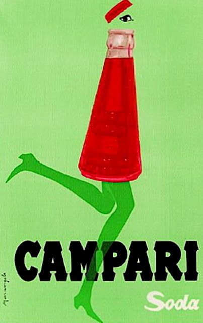 "Campari soda 1950, Franz Marangolo"" Campari soda- my drink of choice ..."