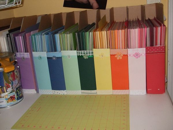 Scrap paper organization opberg tips pinterest - Organizing craft supplies in a small space collection ...