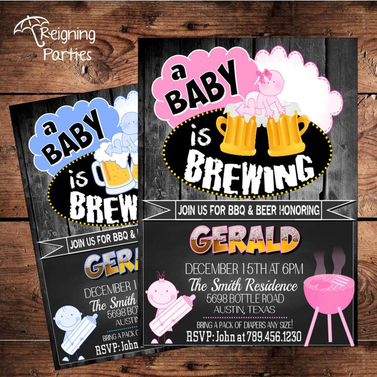 A Baby is Brewing Baby Shower Invitation - Man Shower ...