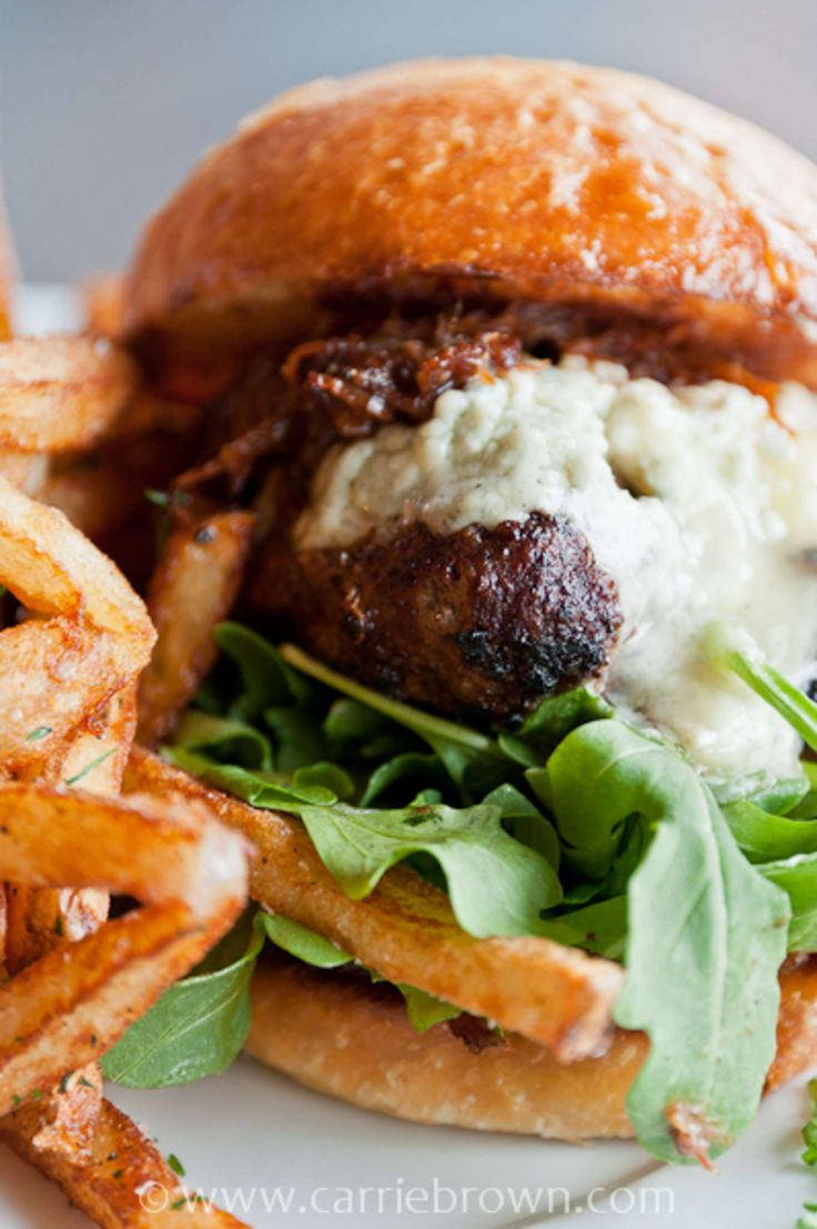 ... - Bacon Jam & Blue Cheese Burger - Bacon Jam and Blue Cheese Burger