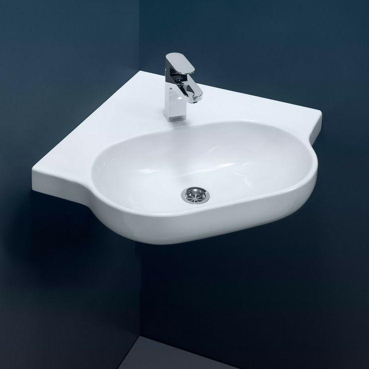 Corner Basin : AS1428.1 Compliant - Wall Basins - Opal Sole Corner Wall Basin