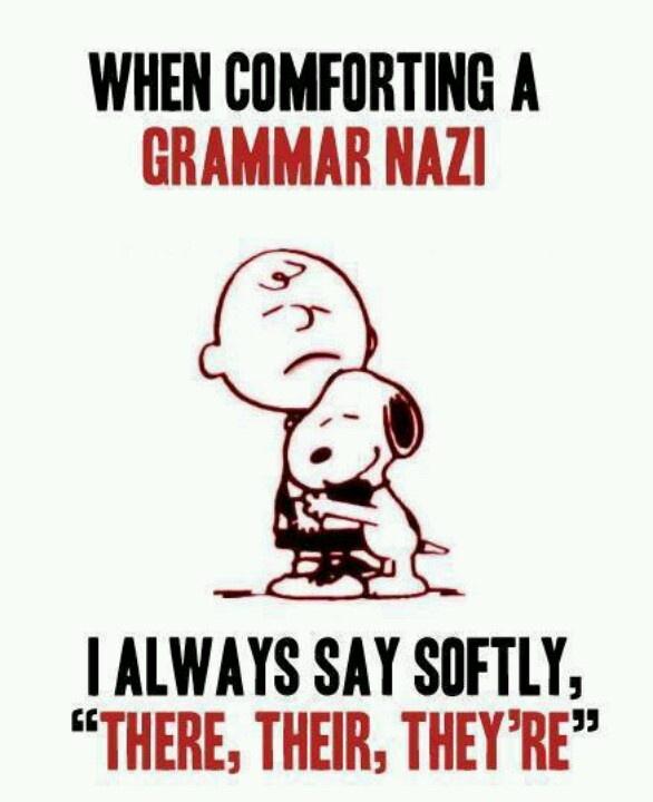 Grammar Lesson, Proper Grammar, Charlie Brown