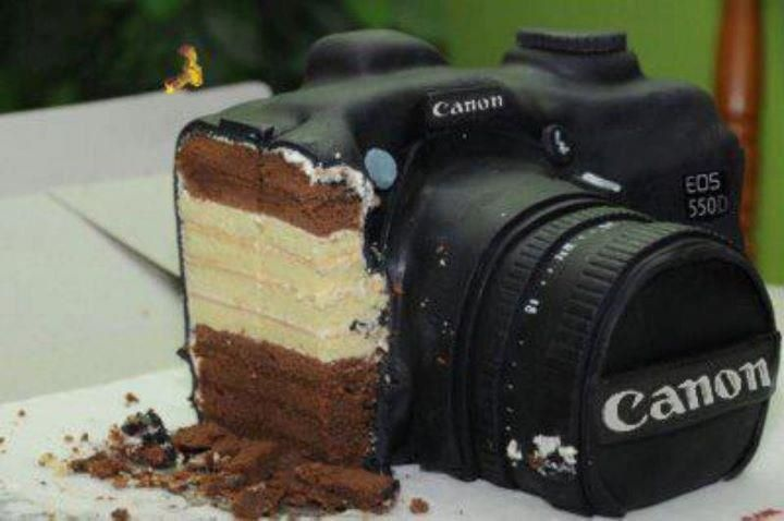 canon cake I love that! Pinterest