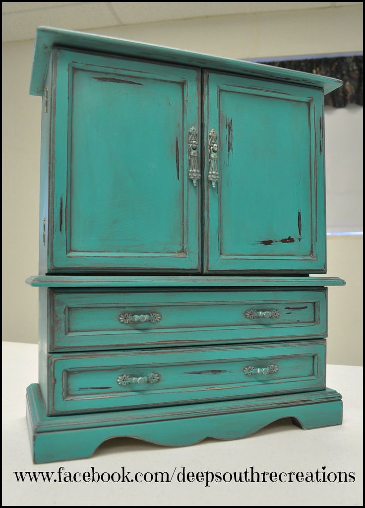 Turquoise Jewelry Box Painted With Miss Lillians Topsy