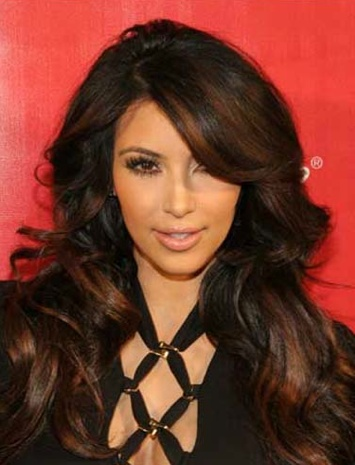 Dark brown with light brown highlights