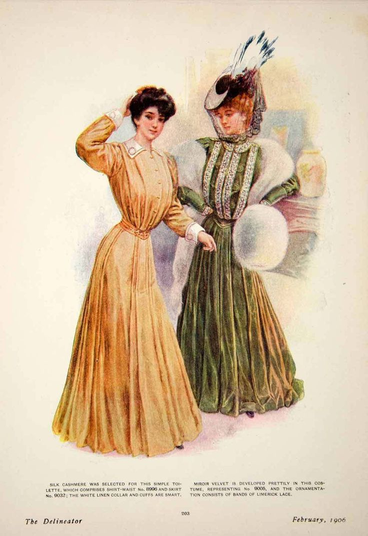 1906 print delineator art nouveau ladies costume edwardian for Miroir art nouveau