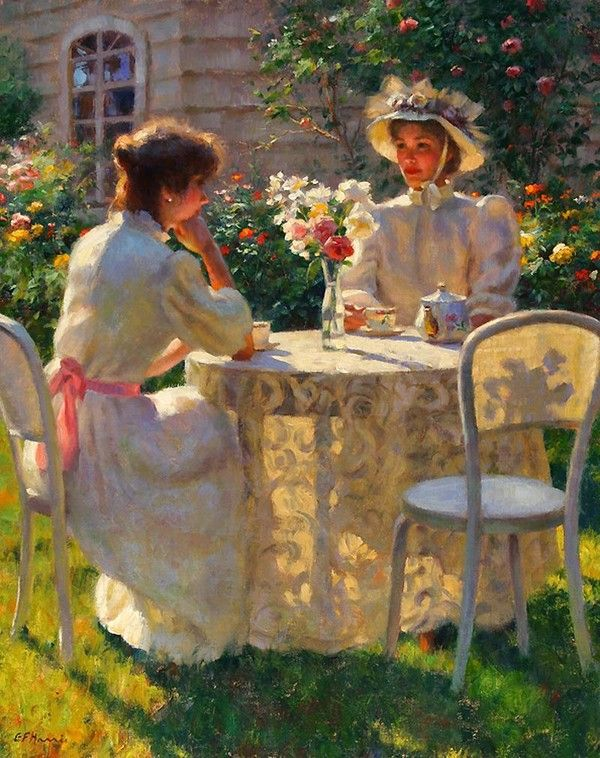 Gregory Frank Harris - Tea in the Garden