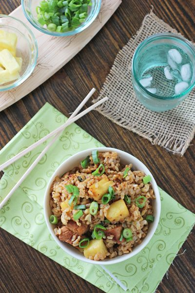 Pineapple Pork Fried Rice - Cookie Monster Cooking