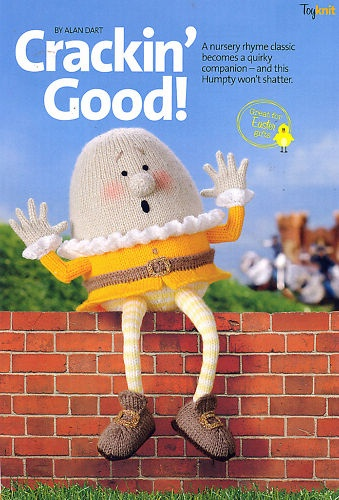 Alan Dart Easter Humpty Egg Soft Toy Knitting Pattern
