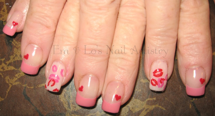 Tip & Overlay Extensions with Shellac french, art, & Konad Shellac