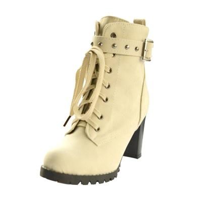 Fall and Winter high heels Rough heel Women's shoes Rivet Martin boots