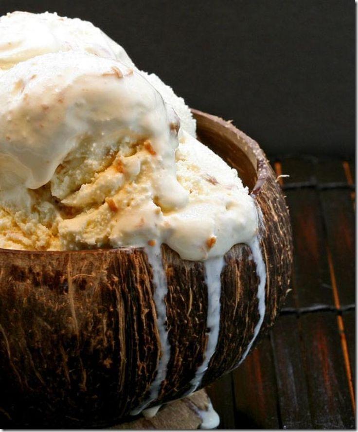 Eggless Coconut Ice Cream | Something Sweet! | Pinterest
