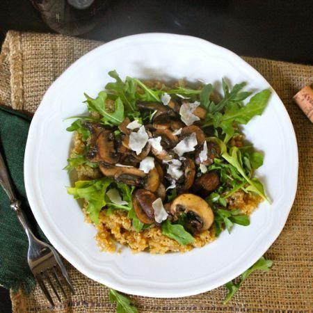 thyme mushroom quinoa risotto