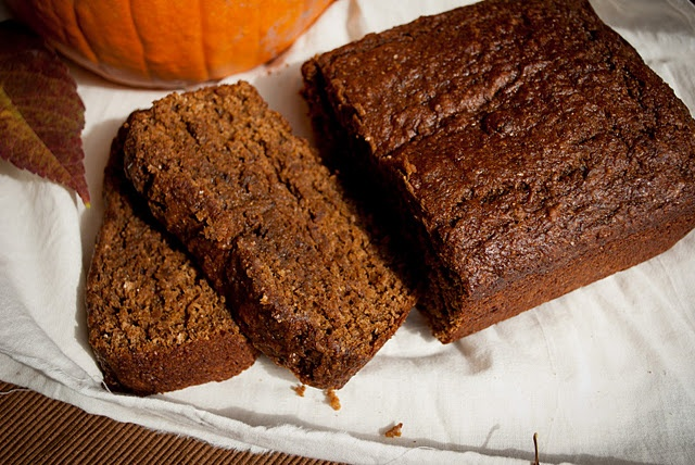 Pumpkin Gingerbread - whole wheat flour, ground flax seed, and wheat ...