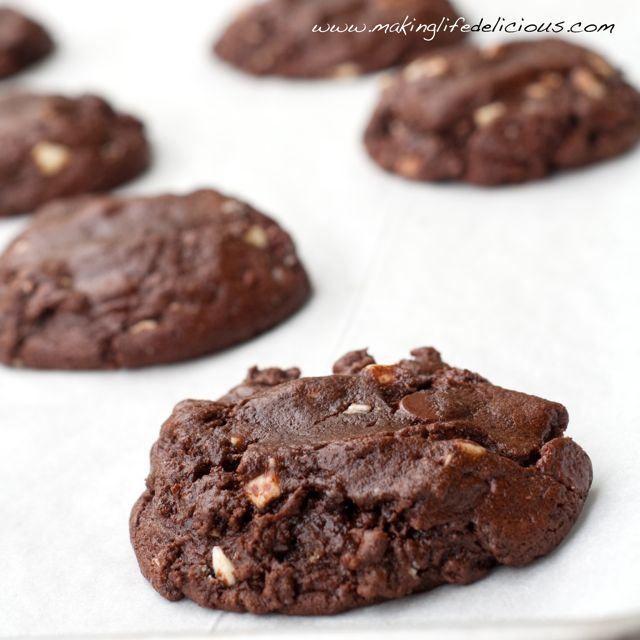 Fudgy Triple Chocolate Cookies | Cookies | Pinterest
