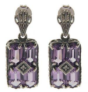 Art Deco Amethyst Earrings