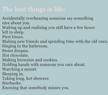 Best things in life: