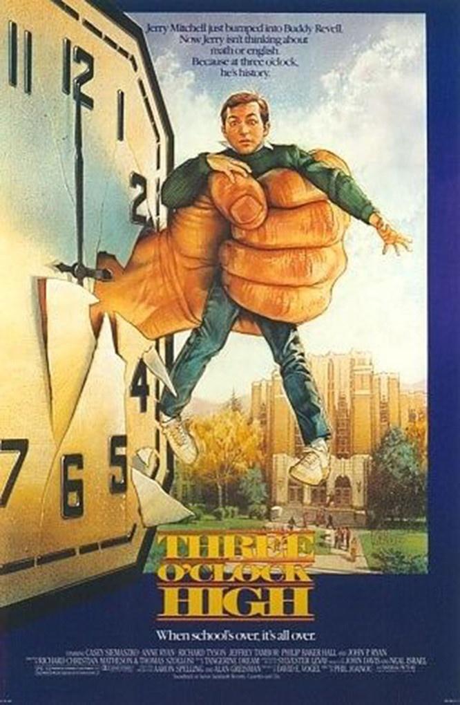 three o clock high 80s movie posterscover art pinterest