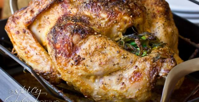Whole Oven Roasted Turkey with Asian Herbs and Spices | Recipe