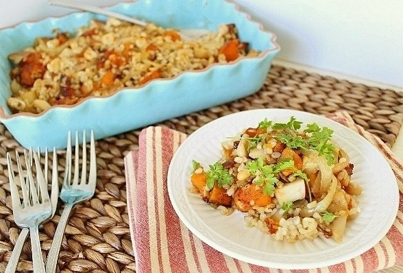 Butternut Squasha and Apple Rice Bake | Recipe