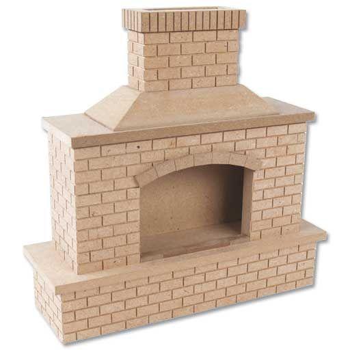 outdoor brick fireplace garden shoppe pinterest