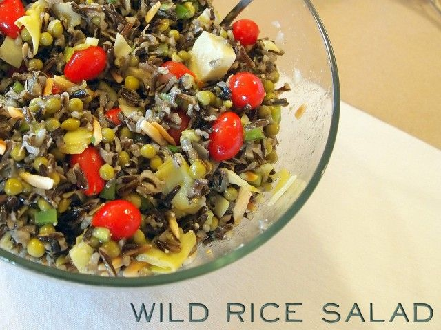 Wild rice salad. Soooooo good! | yummers | Pinterest