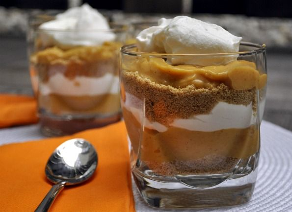 Individual Pumpkin Pie Trifles Both my husband and I felt these were a ...