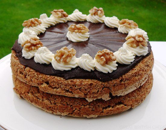 How to Make Walnut Mocha Torte - Great British Chefs