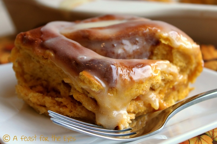... the Eyes: Sweet Potato Cinnamon Rolls With Maple Cream Cheese Icing