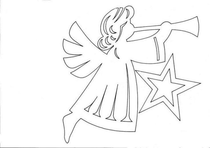 Ангел белый рисунок
